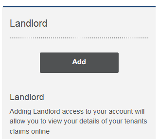 Landlord add button